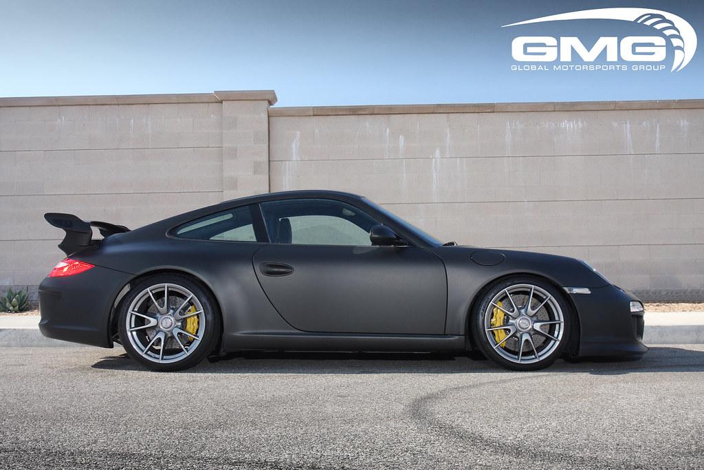 Gmg Racing Matte Black Vinyl Wrap Porsche 997 Gt3 W Gmg