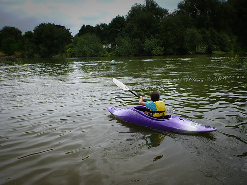 F paddling on the River Thames