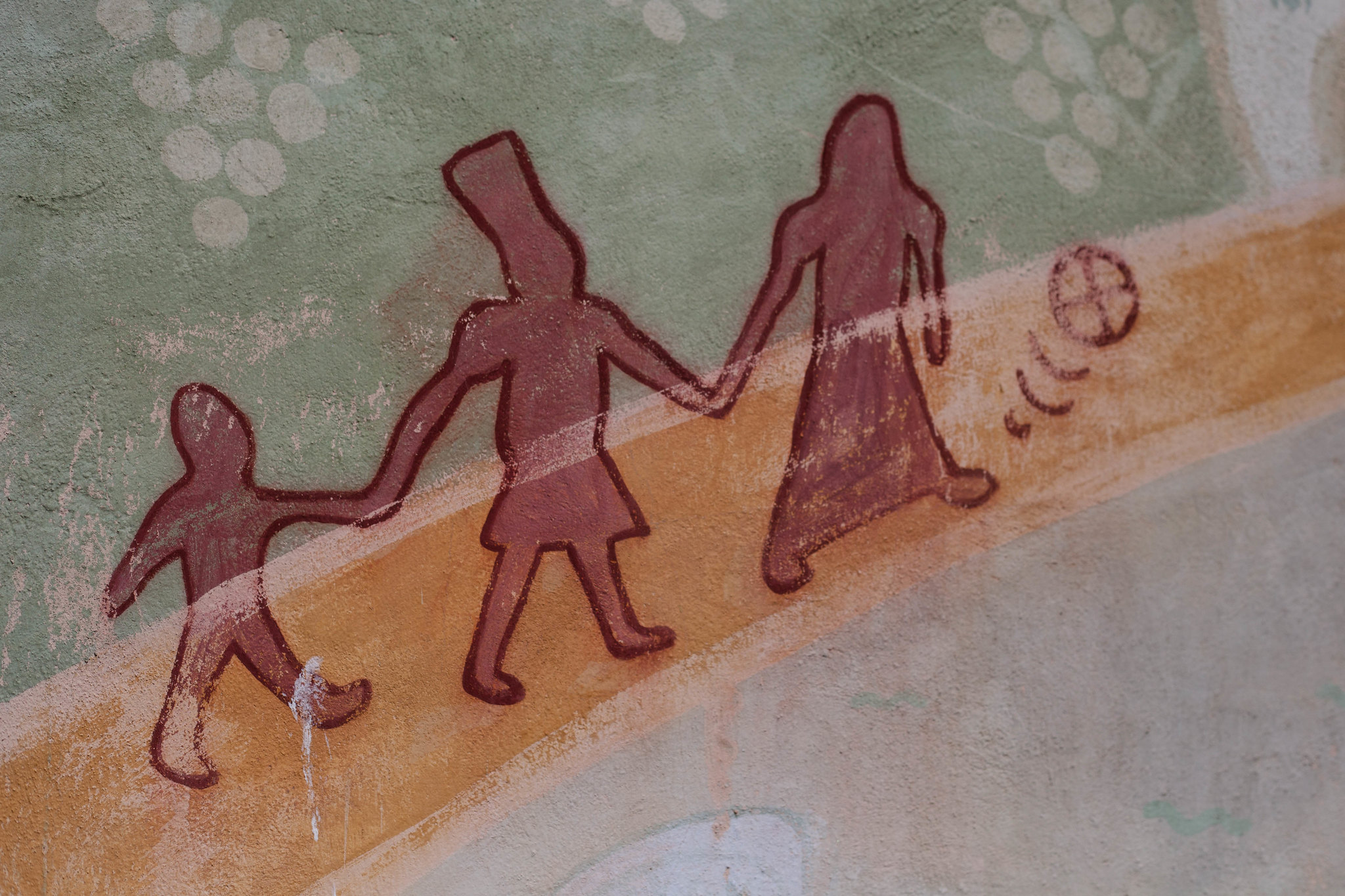 Detail from a mural in Turku.