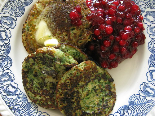 Finnish Spinach Pancakes