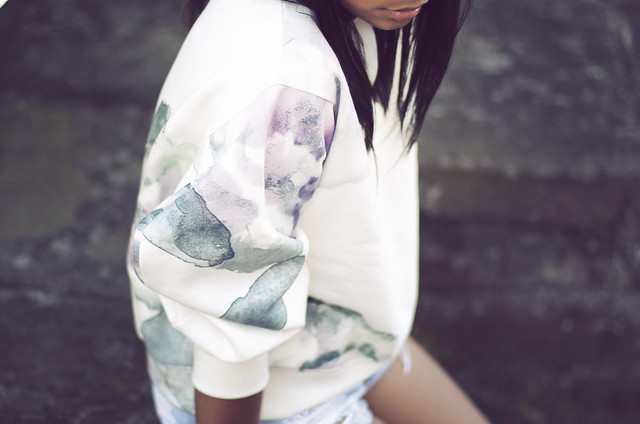 ACNE-flower-print-watercolor-sweater