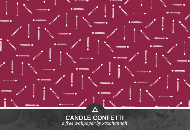 Candle Confetti Desktop Background Preview in Berry