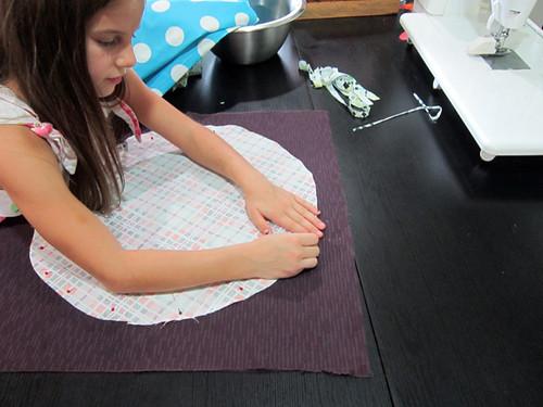 Aria + Me sewing