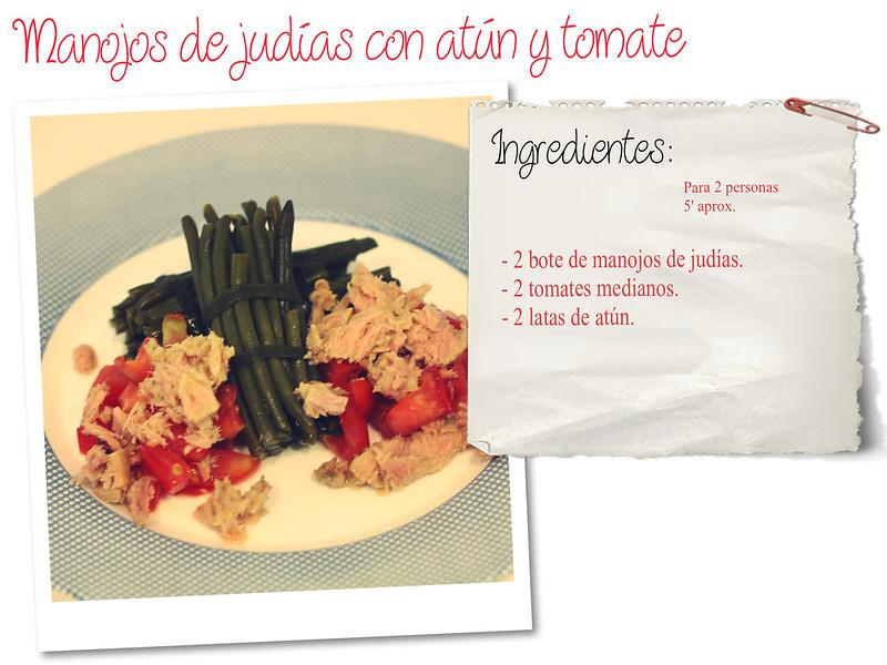 Judías con tomate y atún