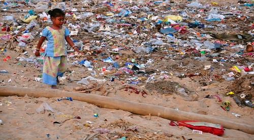 India - Odisha - Puri - Young Girl At The Beach