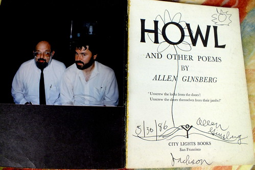 a picture of Allen Ginsberg and I 1986 Jackson Miss.