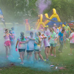 13-041 -- A Color Run, Walk and Roll kicked off Quad Day activities.