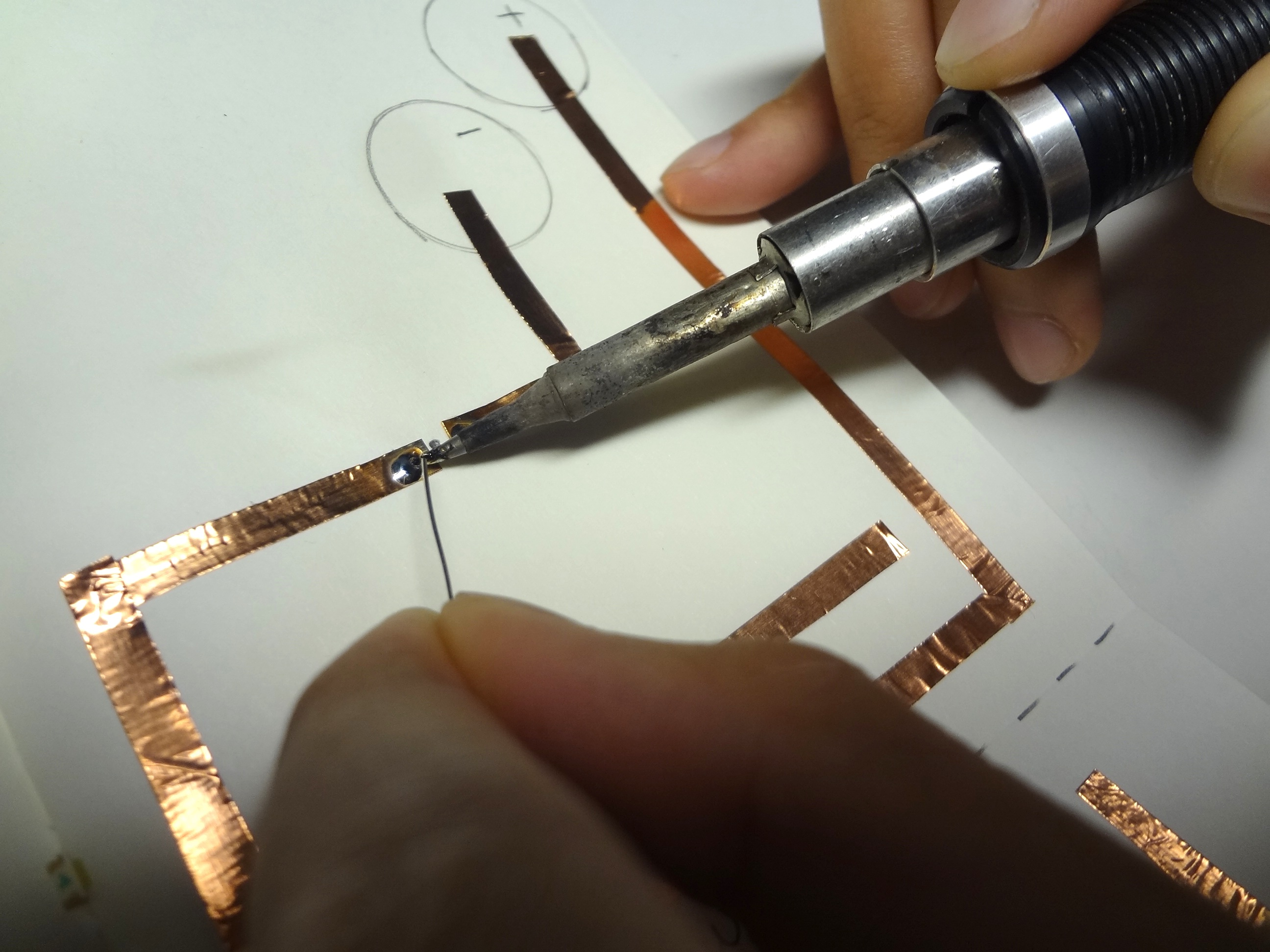 melting solder