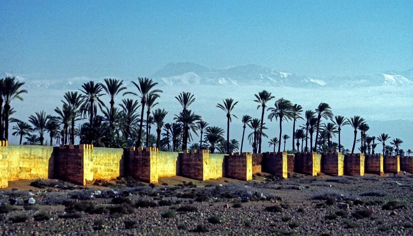 3. Murallas defensivas de Marrakesh, al sur de Marruecos. Autor, Jerzy Strzelecki