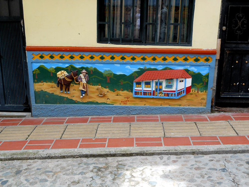 Building artwork in Guatapé, Colombia