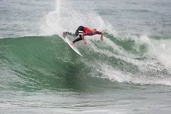 Nat Young finished runner-up at the 2013 Moche Rip Curl Pro Portugal.