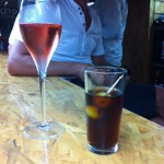 Per Bacco: Fer fermut with rose Cava and vermouth