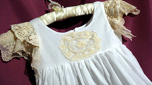 Vintage lace toddler baby night gowns for the Christmas holidays by Rosanna Hope for Baby Bonbons