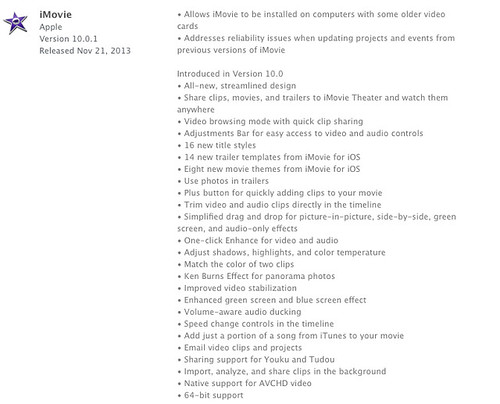 imovie 10.0.1