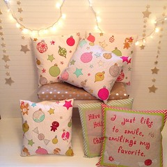 Christmas pillows for the shop