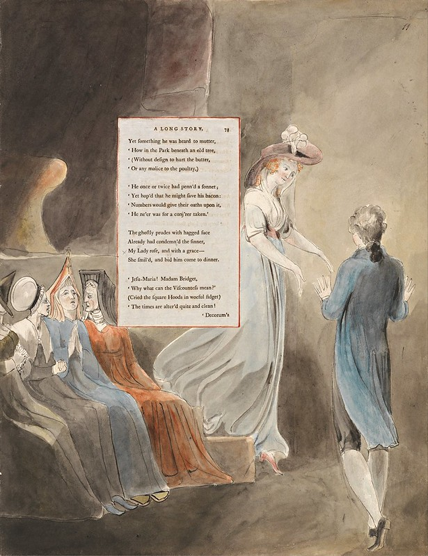 William Blake - The Poems of Thomas Gray, Design 33, A Long Story