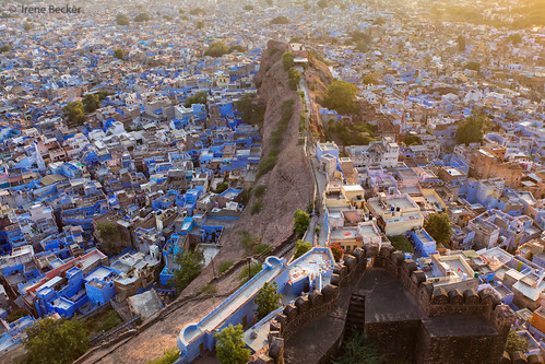 sunset india architecture evening countryside cityscape fort outdoor dust rajasthan jodhpur imagesofindia bluecity northindia mehrangarhfort incredibleindia indianimages indianstreetphotography irenebeckereu