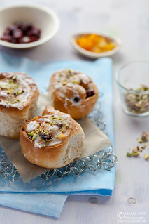 Cranberry Orange Marzipan Stollen Buns 0064