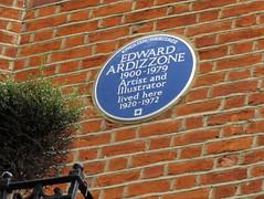 Photo of Edward Ardizzone blue plaque
