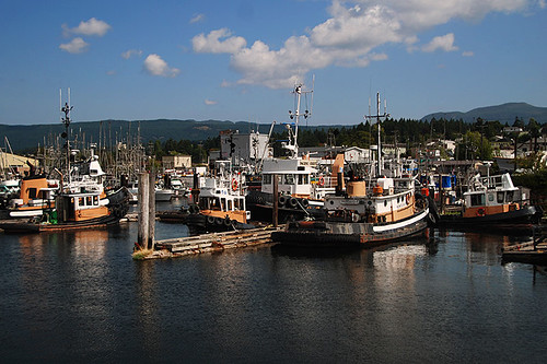 Tugboats at B. Gregory Dock, Port Alberni, Alberni Valley, Vancouver Island, British Columbia