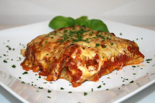 43 - Cannelloni di salsiccia arrosto - Seitenansicht / Side view