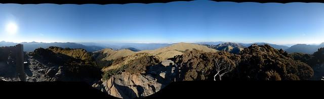 合歡山東峰視野全景圖