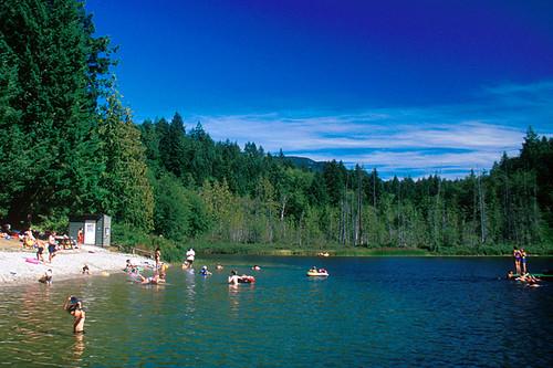 Katherine Lake, Garden Bay, Sechelt Peninsula, Sunshine Coast, British Columbia, Canada