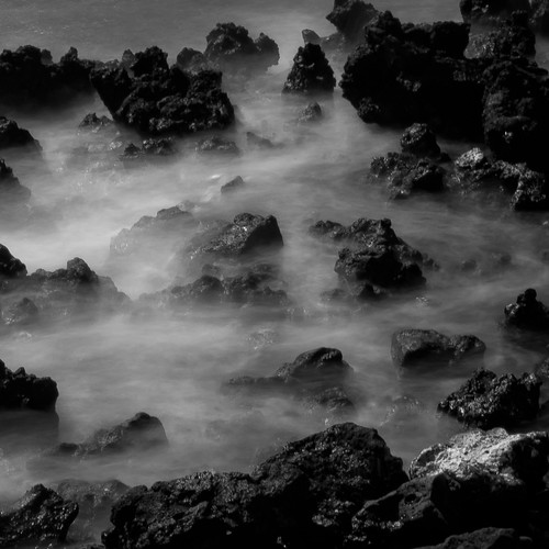 longexposure blackandwhite bw beach water monochrome square hawaii lava blackwhite nikon rocks waves stones 89 ocen 316 explored d5000 noahbw