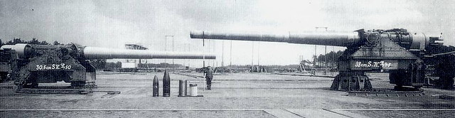 [30.5 cm SK L/50] and [38 cm SK L/45] Krupp Cannons