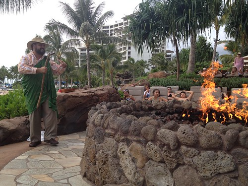 Storytelling about menehune and waa