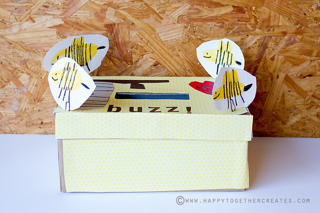Valentines Card Box Bee Themed