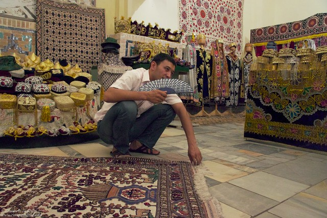 Silk Road Merchant. Samarkand, Uzbekistan
