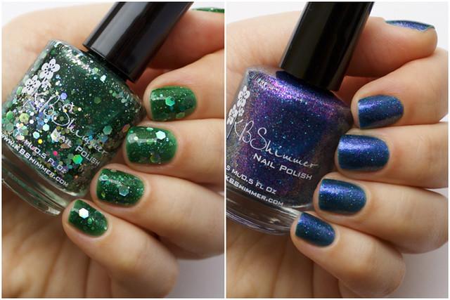 kbshimmer green hex & glam + maybe navy