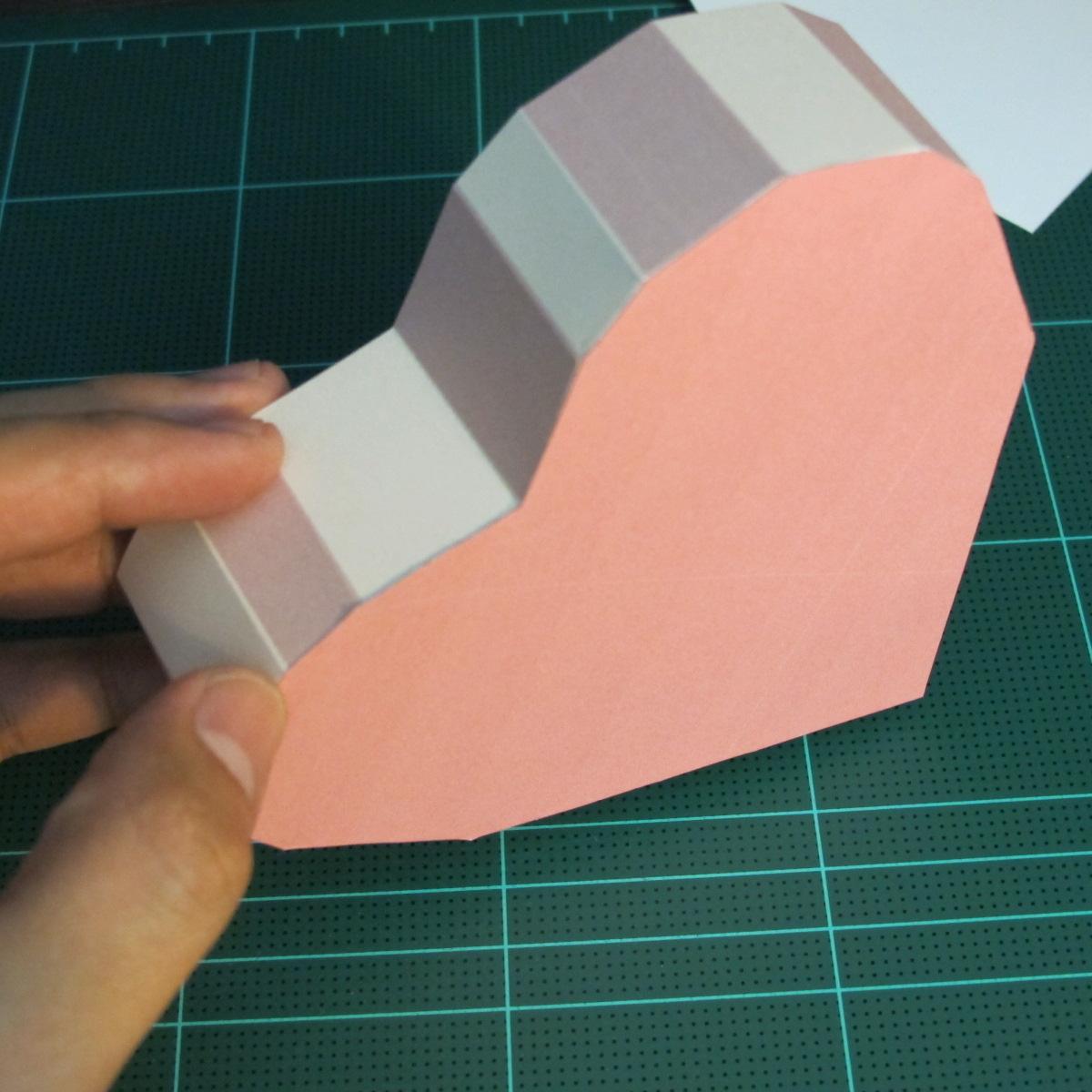 วิธีทำโมเดลกระดาษเป็นกล่องของขวัญรูปหัวใจ (Heart Box Papercraft Model) 010