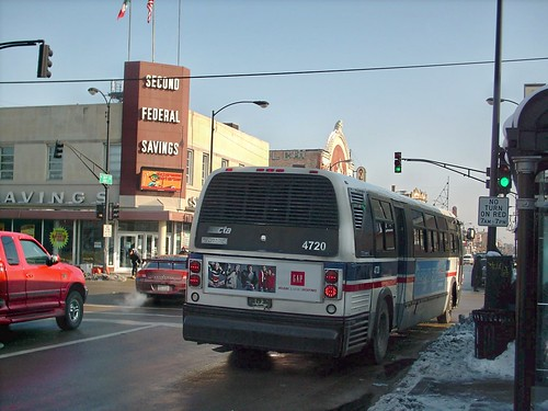 An eastbound Chicago Transit Authority Route # 60 /  Blue Island bus at the intersection of West 26th Street and South Pulaski Road.  Chicago Illinois.  December 2007. by Eddie from Chicago