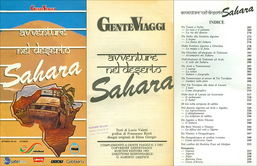 AFRSAH-4K-04 2219KAf  Sahara Adventure nel Deserto Gente Viaggi  Testi di Lucio Valetti Rusconi Editore No. 5. 1985.