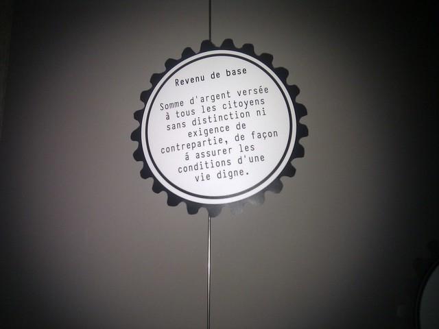 Le revenu de base est expliqué au musée du Capitalisme à Namur.
