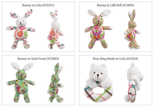 Bear Rattles and Bunny Stuffed Toys