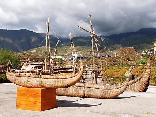 Replica reed boats, Pyramids de Guimar Ethnological Park, Tenerife