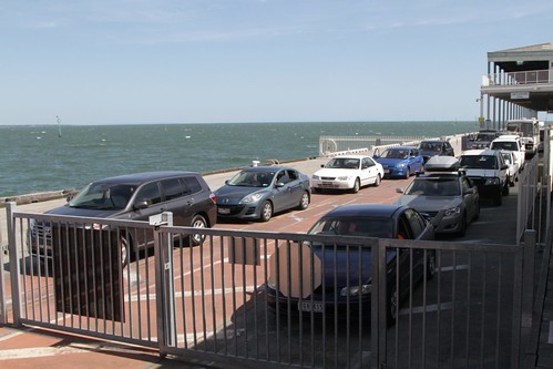 Cars waiting to board the Spirit of Tasmania II