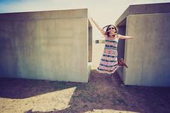 Deya Jumping at Chinati