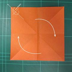 วิธีพับกระดาษเป็นรูปนกยูง (Origami Peacock - ピーコックの折り紙) 004