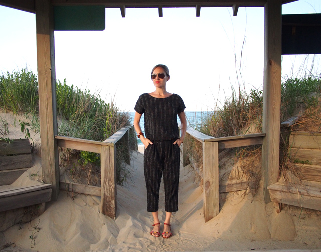 4 Ace and Jig black onesie jumpsuit fair trade fashion