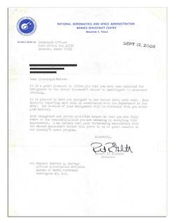 NASA Acceptance