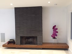 Clear Acrylic Pedestal Fireplace Accent