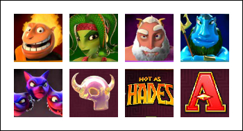 free Hot as Hades slot game symbols