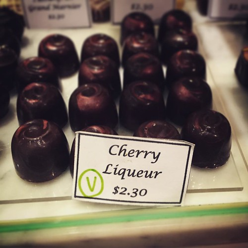 Cherry Liqueur truffles at Colestown Chocolate in 277, Newmarket. #vegan #veganchocolate #aucklandvegan