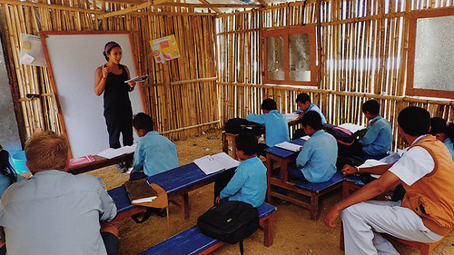 Sole Sister Emma teaching-nepal