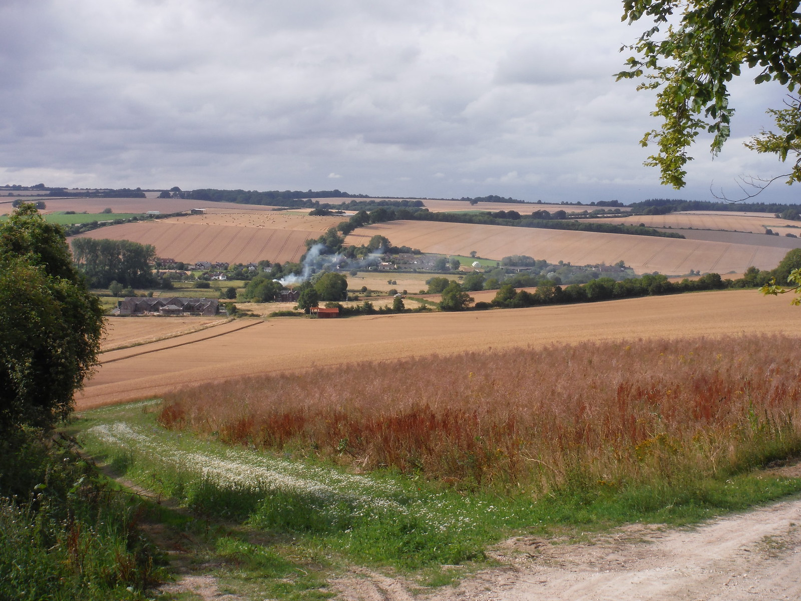 Coombe Bissett village from Faulston Down SWC Walk 254 Salisbury Circular