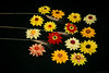 Sunflower brooches handmade of felt
